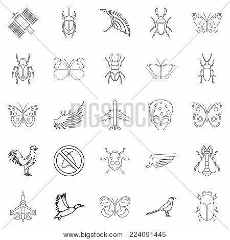 Rise icons set. Outline set of 25 rise vector icons for web isolated on white background