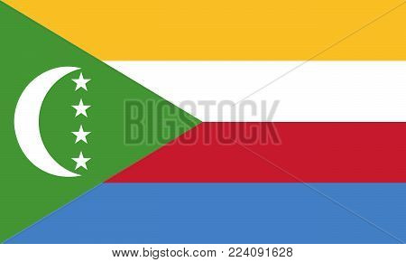 Flag of Comoros. Vector illustration. World flag