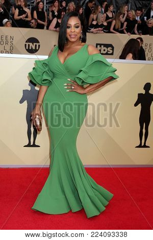 LOS ANGELES - JAN 21:  Niecy Nash at the 24th Screen Actors Guild Awards - Press Room at Shrine Auditorium on January 21, 2018 in Los Angeles, CA