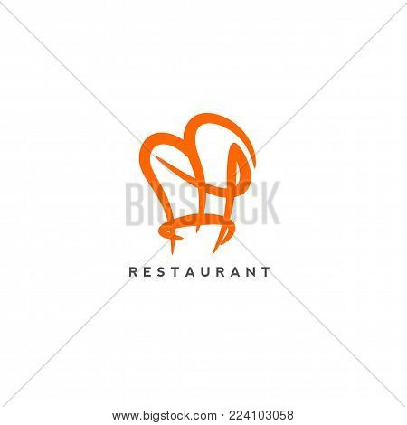 resturants logo with white background and topography.