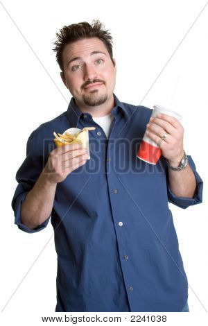 Man With Fast Food