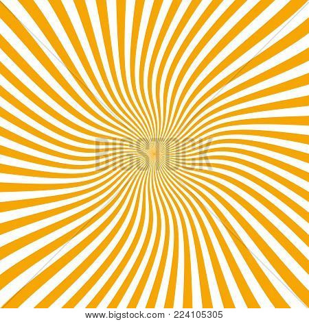 Summer Background With Orange Yellow Rays Summer Sun Hot Swirl With Space For Your Message. Vector I