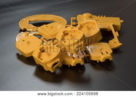 Industrial injection molding press  the manufacture of plastic parts