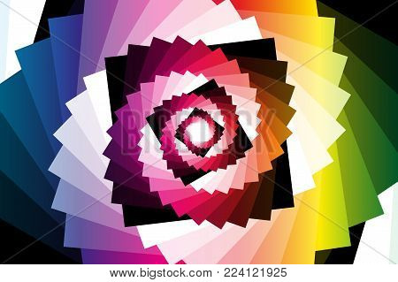 Spiral of rotating squares, Spiral from squares - color pattern