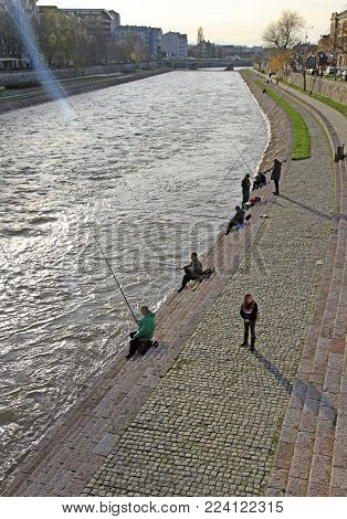 Nisava River In Serbian City Nis