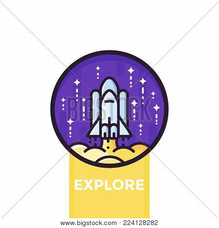 space shuttle vector icon, eps 10 file, easy to edit