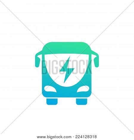 electric bus icon, eps 10 file, easy to edit