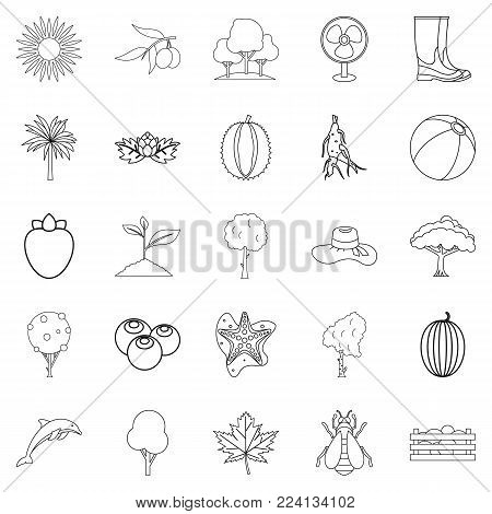 Flourish icons set. Outline set of 25 flourish vector icons for web isolated on white background