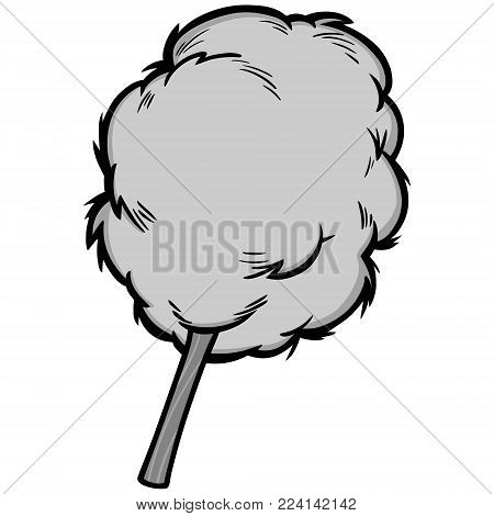 Cotton Candy Illustration - A vector cartoon illustration of some Cotton Candy.