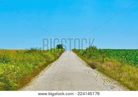 Image of Road in the Countryside of Bulgaria