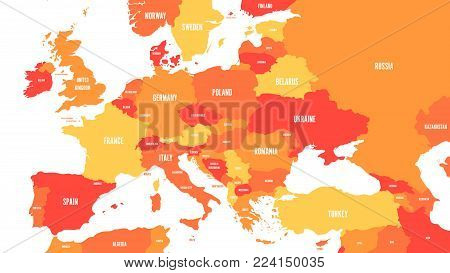Political Map Europe Vector Photo Free Trial Bigstock