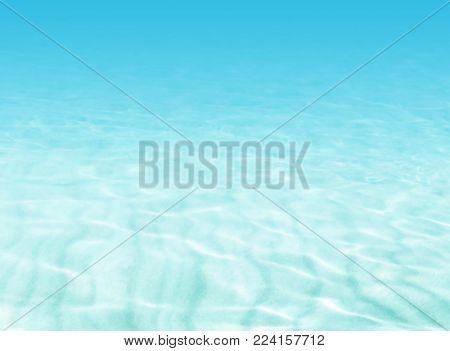 Water background - beach scene - soft blue underwater ocean - summer holiday concept