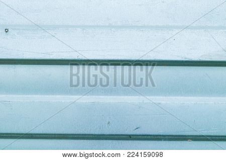 Industrial Metal Background. Corrugated Zinc Metal Texture, Closeup View Of Zinc Metal Surface, Indu