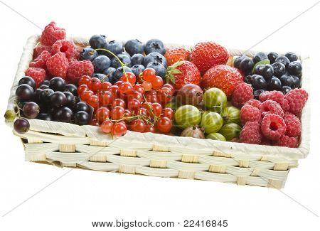 ripe berries in the box