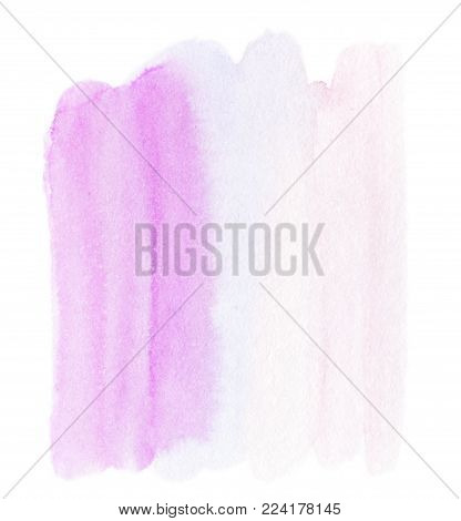 Abstract pink background  - Wet Coral watercolor stain  for your design. Colorful watercolour ink spot painting on paper