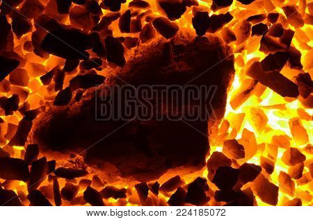 The coal is burned with anthracite of small and coarse fraction.