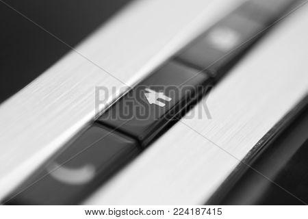 Black computer keyboard close up - symbol