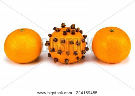 Individuality and difference concept. Tangerine close up.