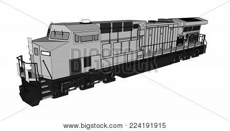 Modern Diesel Railway Vector & Photo (Free Trial) | Bigstock