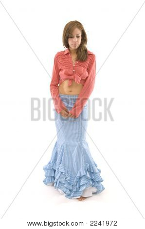 Woman In Long Skirt