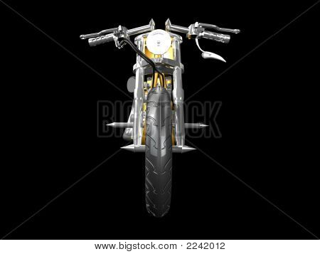3D Motorcycle Front View