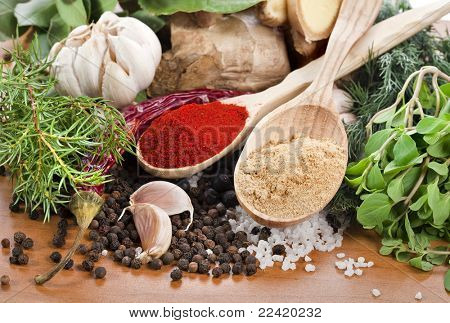 Fresh herbs and spices