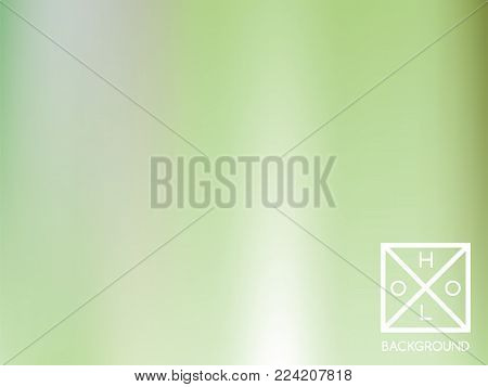 Green gradient.  Blurred sparkly cover. Abstract soft pastel color backdrop.  Trendy creative vector foliage gradient. Mesh gradient foil.  Creative bokeh template for banner. Vibrant green print.