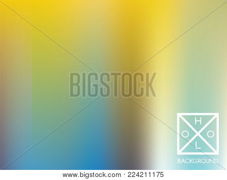 Holographic background. Holo iridescent cover. Abstract soft pastel colors backdrop. Minimal creative vector gradient.  Pastel fantasy foil.  Creative neon template for banner. Vibrant print.