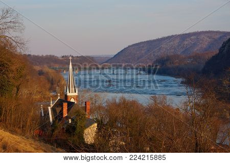 A view of the Potomac River from Harpers Ferry, WV