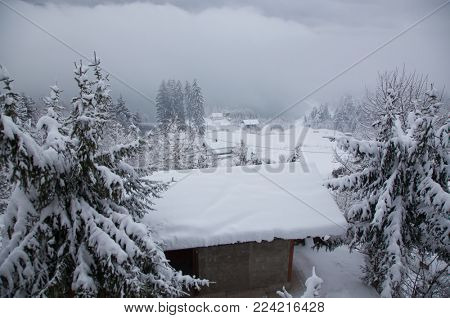 winter at Colibita lake, Romania