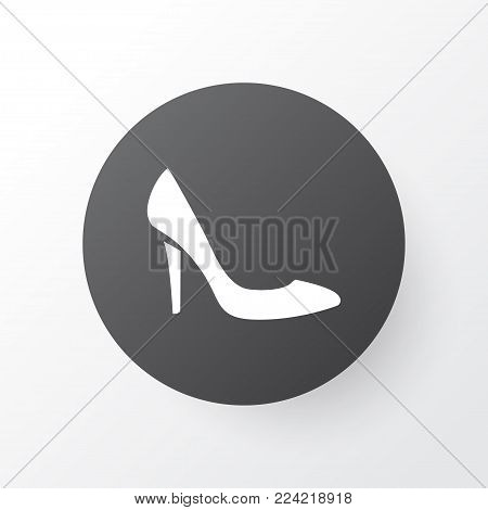 Heeled shoes icon symbol. Premium quality isolated stiletto element in trendy style.