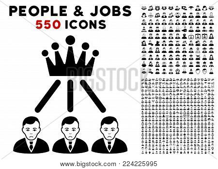 Dolor Hierarchy Men pictograph with 550 bonus pitiful and glad people pictographs. Vector illustration style is flat black iconic symbols.