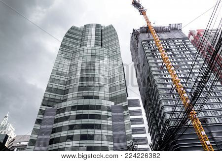 The High-rise Building Under Construction