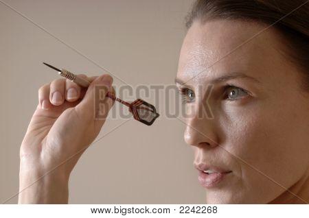 Woman Throwing Dart