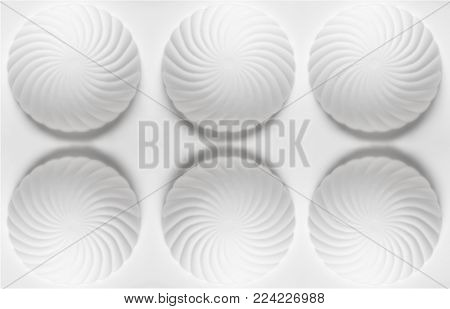 White silicone baking form for cookies, sweets and cupcakes