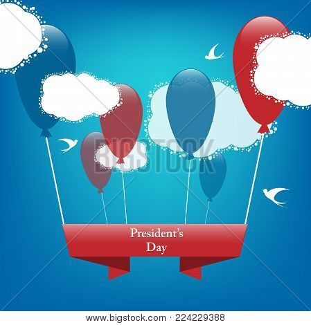 colorful vector President's day background. Design for greeting cards and invitation. Eps10 vector decoration