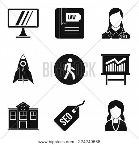 Initiation icons set. Isometric set of 9 initiation vector icons for web isolated on white background