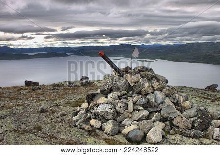 Top of Saana fell in Lapland, Finland