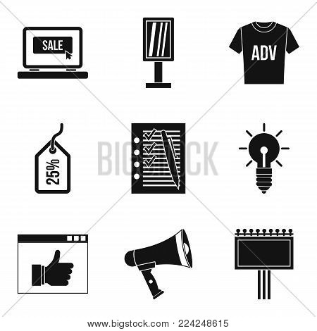 Online buy icons set. Simple set of 9 online buy vector icons for web isolated on white background