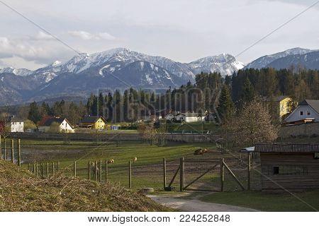The Drau valley and Tierpark Rosegg, Austria