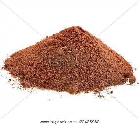 cocoa powder isolated