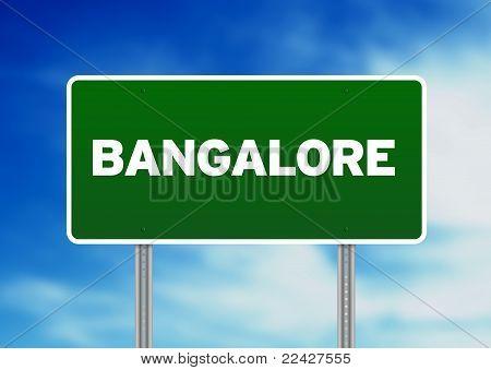 Green Road Sign - Bangalore