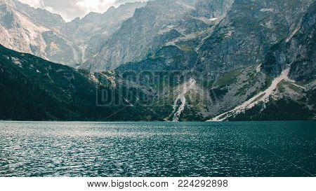 The view of the lake Morskie Oko in the Tatra mountains, Poland