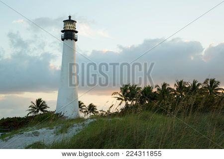 Miami's lighthouse from Bill Baggs Cape Florida State Park