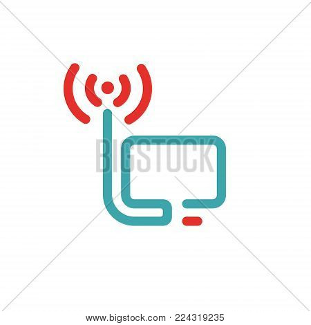 Pc Wireless Network Vector Photo Free Trial Bigstock