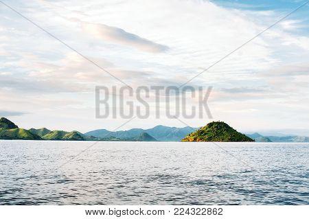 Islands Of Komodo National Park In East Nusa Tenggara, Flores, Indonesia. Amazing Marine Seascape, L