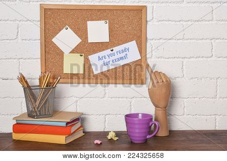 Stationery and paper with question