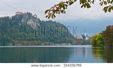 Bled Castle is a medieval castle built on a precipice above the city of Bled in Slovenia, overlooking Lake Bled