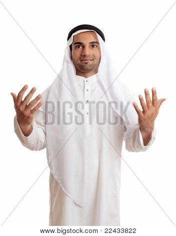 Arab Man In Praise Or Worship