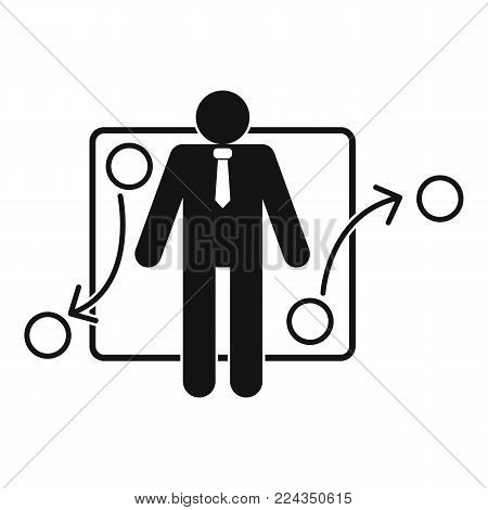 One businessman icon. Simple illustration of one businessman vector icon for web